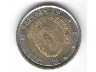 Moeda Da Espanha 2 Euros 2001